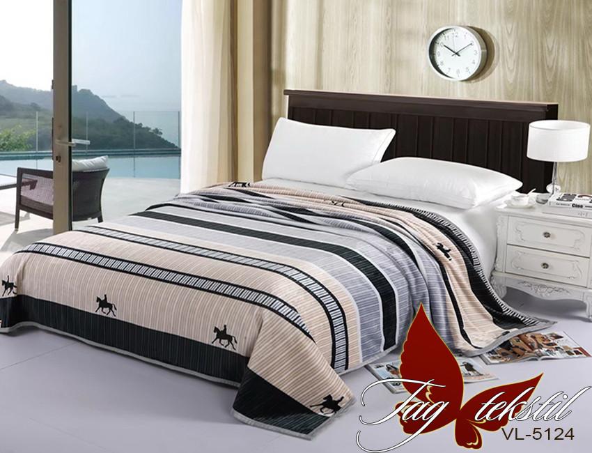 Плед покрывало 200х220 велсофт Всадник на кровать, диван
