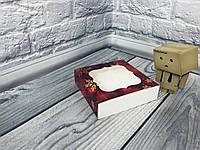 *50 шт* / Коробка для пряников / 120х120х30 мм / печать-Снег.Красн / окно-обычн / НГ, фото 1