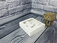 *50 шт* / Коробка для пряников / 120х120х30 мм / Белая / окно-Бабочка / лк, фото 1