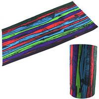 Бафф бандана-трансформер шарф из микрофибры цветной забор (z04586)