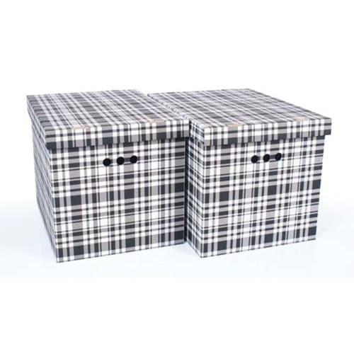 Набор картонных ящиков для хранения XL, клетка 2шт