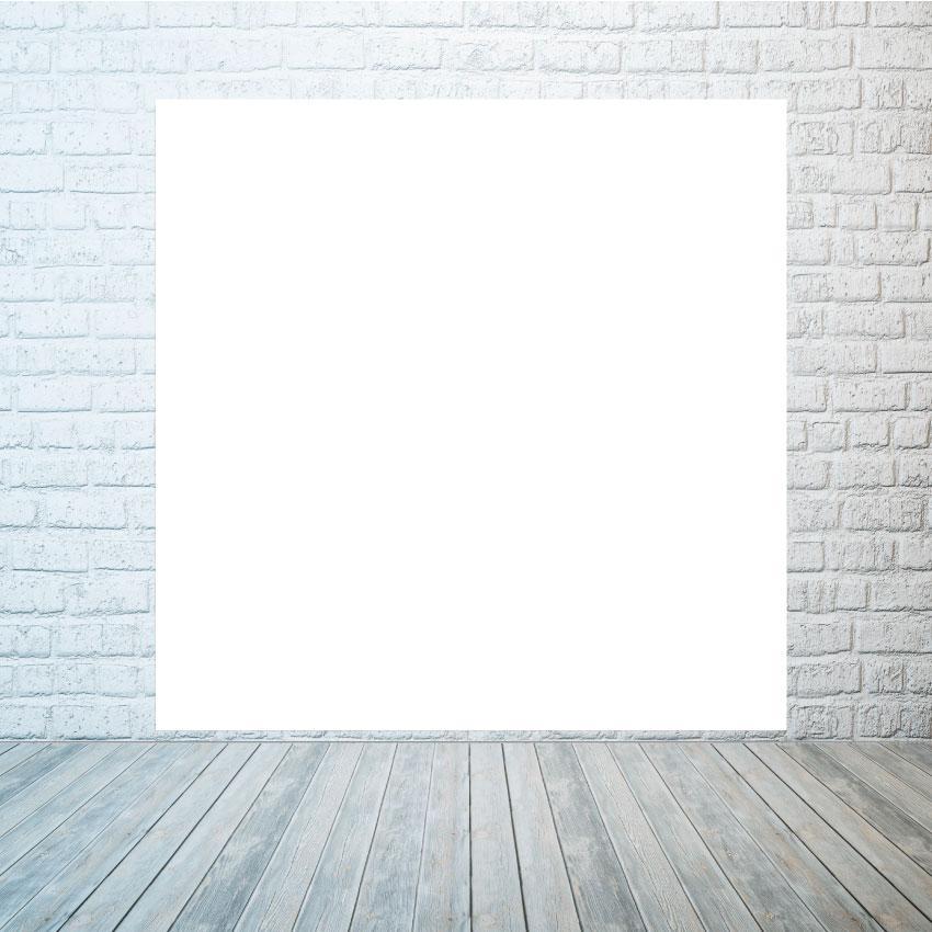 Аренда баннера белого без надписей  2х2м
