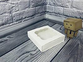 Коробка для пряников / 120х120х30 мм / Белая / окно-обычн