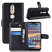 Чехол Luxury для Nokia 4.2 DS (TA-1157) книжка черный, фото 1