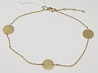 Золотой браслет на ногу. Артикул БС658.3И 24,5-27,5