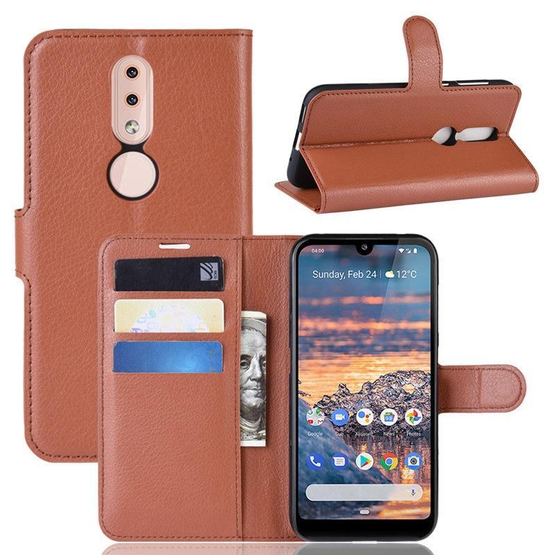 Чехол Luxury для Nokia 4.2 DS (TA-1157) книжка коричневый