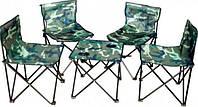 Туристический набор стол и 4 стулья (камуфляж) Budmonster
