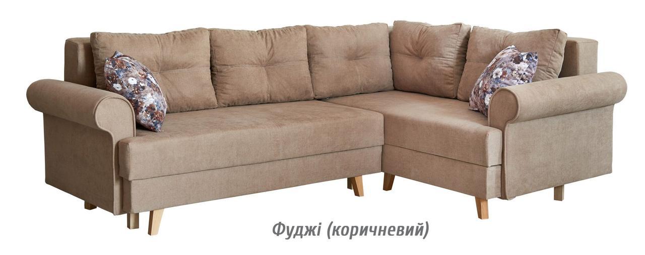 Диван раскладной угловой Бостон (фуджи коричневый) Мебель-сервис