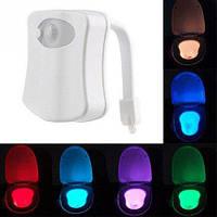 LED подсветка унитаза с датчиками освещенности и движения 8 цветов (z01028)