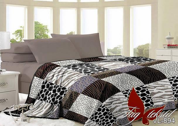 Плед покрывало 200х220 велсофт Клетка на кровать, диван, фото 2