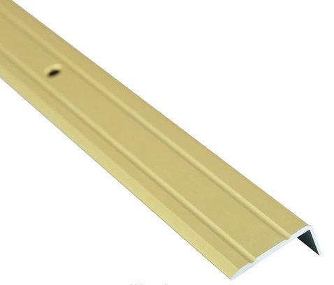 Алюминиевый лестничный профиль рифленый анодированный 24.5мм х 10мм 2.7м золото