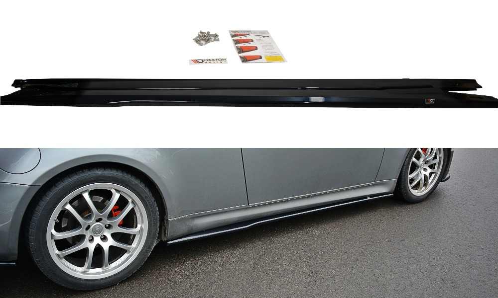 Сплиттер Infiniti G35 Coupe тюнинг элероны под пороги
