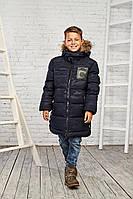 Теплая зимняя куртка на мальчика 11-16 лет. Размеры 146-170, есть замеры