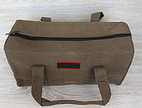 Дорожня тканинна сумка коричневого кольору (156014к)