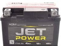 Мото аккумулятор Jet Power YTX4L-BS AGM 6мтс 4