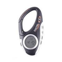 Многофункциональный 3 в 1 походный цифровой компас в виде карабина + термометр + часы для туристов