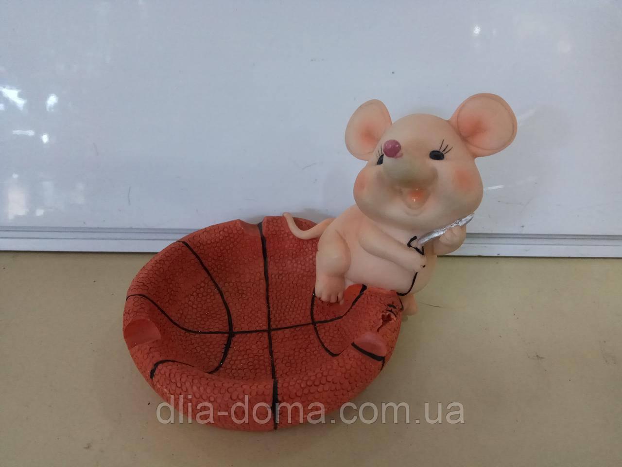 Сувенир пепельница мышь с сердцем