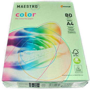 Бумага А4 Maestro Color MG28 нежно-зеленый