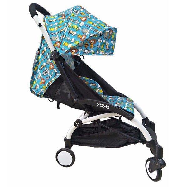 Детская коляска YOYA 175A+ BLUE BLAME черная рама