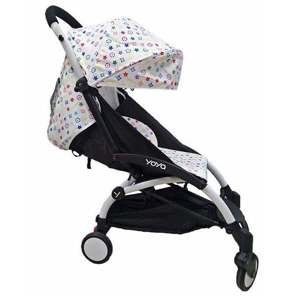 Детская коляска YOYA 175A+ LV WHITE белая рама