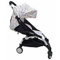 Детская коляска YOYA 175A+ LV WHITE черная рама