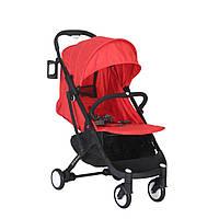 Детская коляска YOYA plus красная черная рама