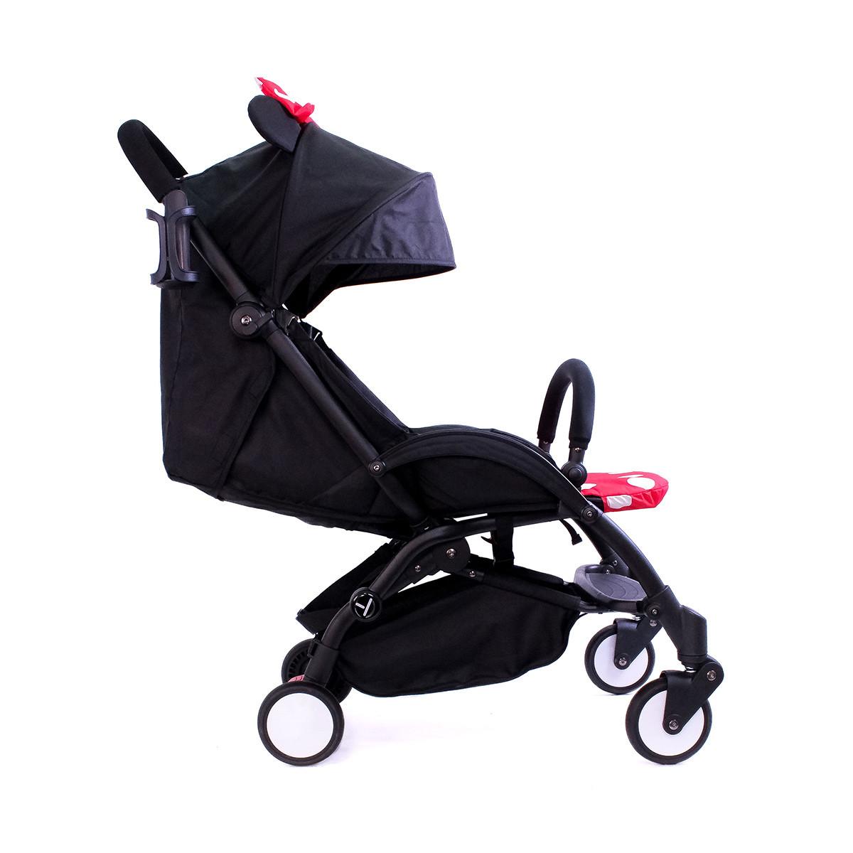 Детская коляска Минни YOYA Premium черная рама