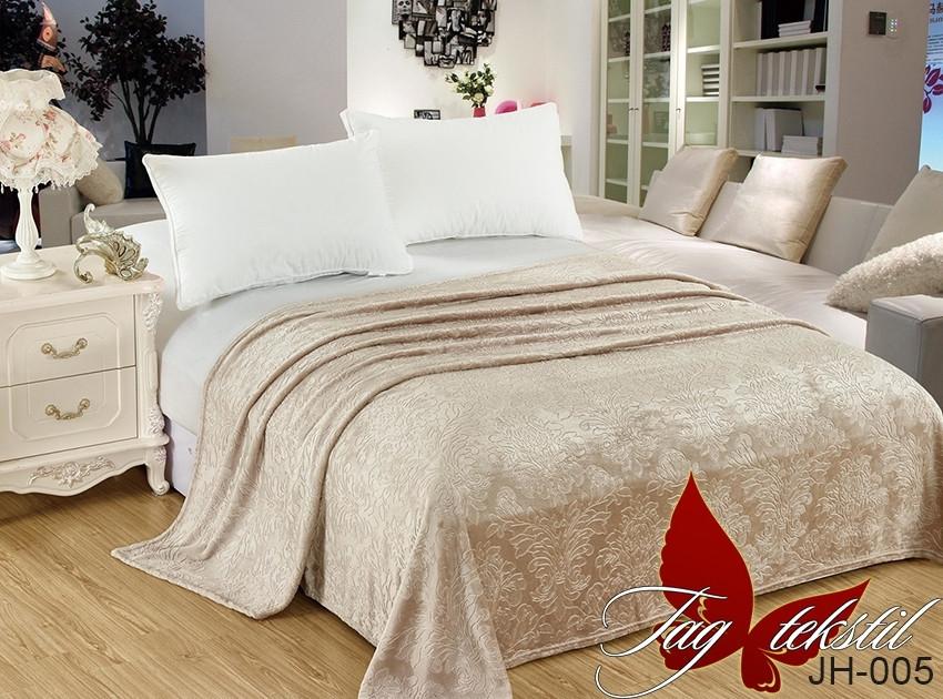 Плед покрывало 200х220 велсофт Пудра на кровать, диван
