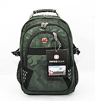 Рюкзак Міський із Виходом для Навушників SwissGear 9363 Хакі