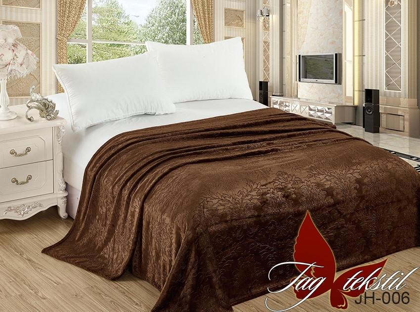 Плед покрывало 200х220 велсофт Шоколад на кровать, диван