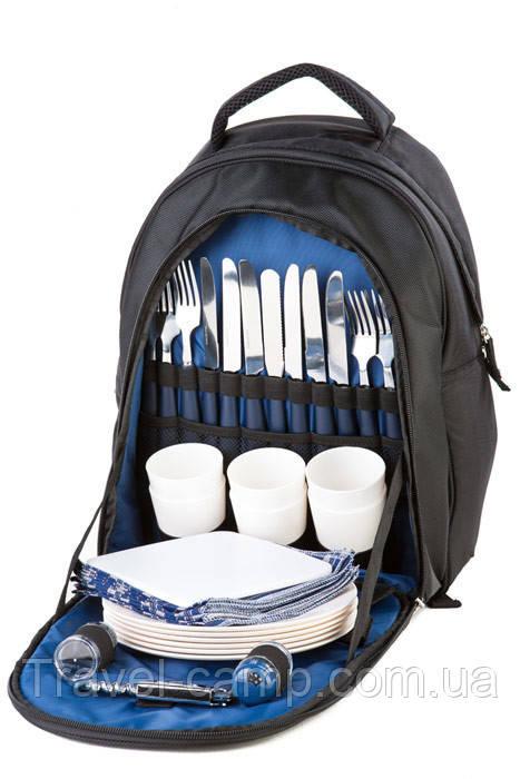 Рюкзак з посудом для пікніка на 6 персон