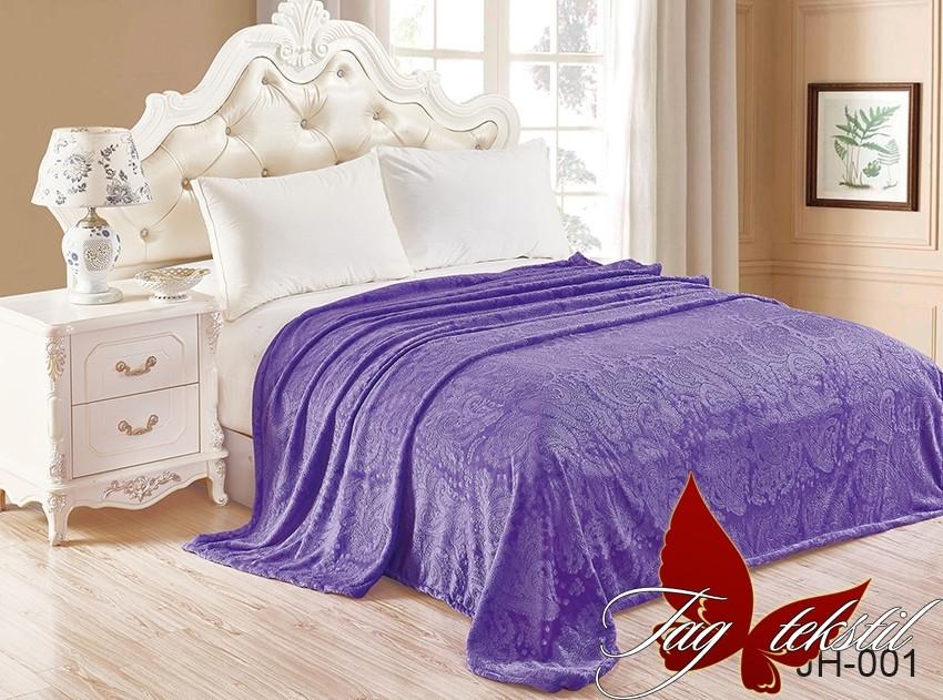 Плед покрывало 200х220 велсофт Сирень на кровать, диван