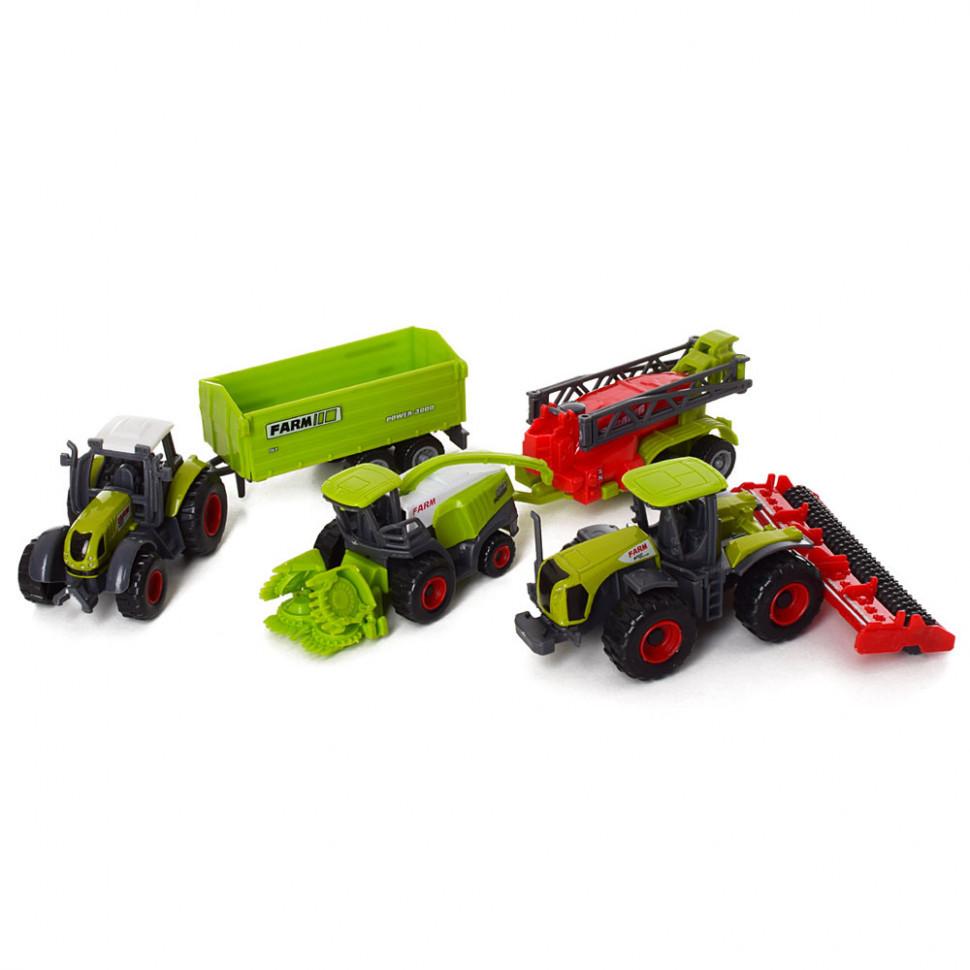 Игровой набор фермера (2 трактора и комбайн)