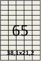 Самоклеящаяся этикетка в листах А4 - 65 шт (38,1х21,2)