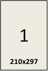 Самоклеящаяся этикетка в листах А4 -  1 шт (210х297) (100 листов в пачке)