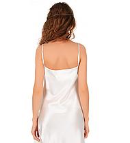 Атласная ночная сорочка без рукавов Martelle Lingerie (молочная), фото 2