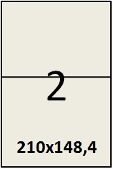 Самоклеящаяся этикетка в листах А4 -  2 шт (210х148,4)