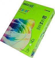 Бумага А4 Maestro Color зеленая