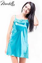 Атласная ночная сорочка без рукавов Martelle Lingerie (молочная), фото 3