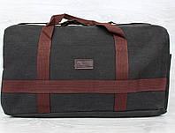 Прочная дорожная сумка черного цвета тканевая (156015)