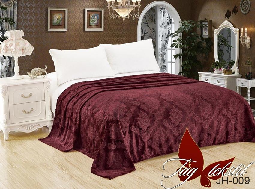 Плед покрывало 200х220 велсофт Каштан на кровать, диван