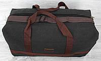 Міцна дорожня сумка чорного кольору тканинна  (156015)