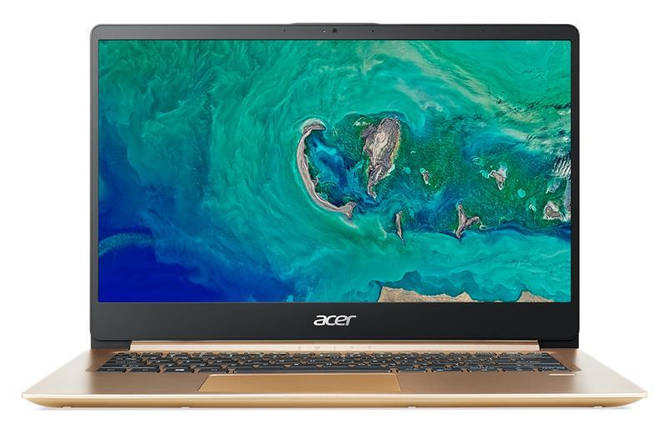 Ноутбук Acer Swift 1 SF114-32-C16P 14FHD IPS AG/ Intel Cel N4000/4/128F/int/Lin/Gold, фото 2