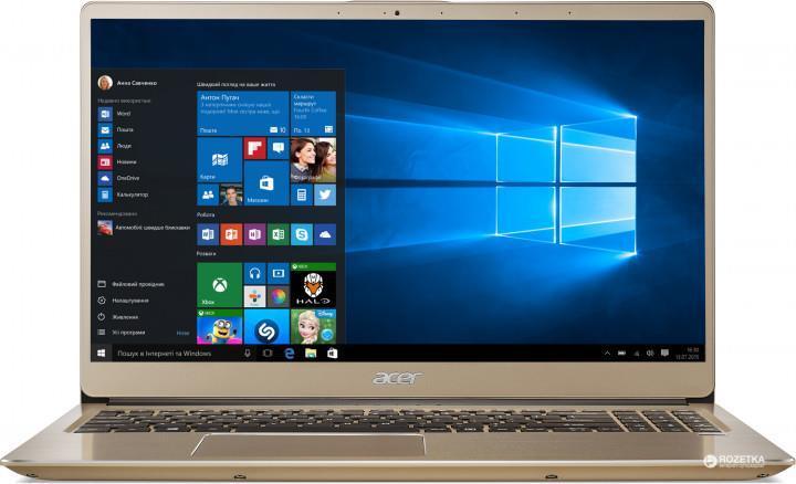 Ноутбук Acer Swift 3 SF315-52-5989 15.6FHD IPS/Intel i5-8250U/8/1000+128F/int/Lin/Gold