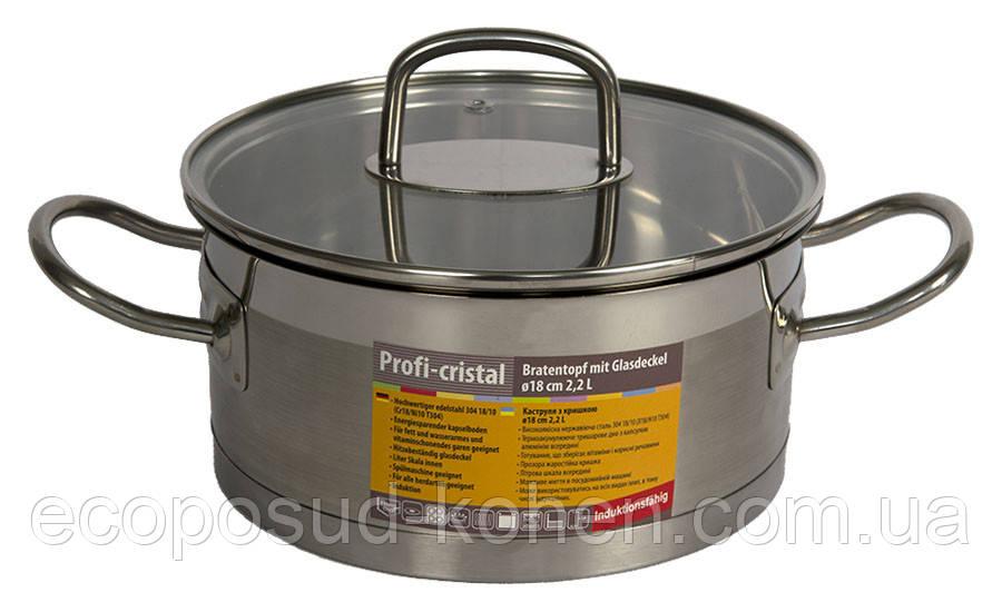 Каструля Profi Crystal d-18 см (2,2 л), KOHEN