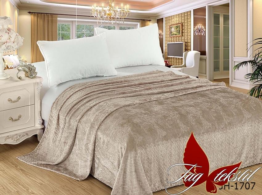 Плед покрывало 160х220 велсофт Песок на кровать, диван