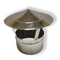 Грибок для дымохода нержавейка D-100 мм толщина 0,6 мм