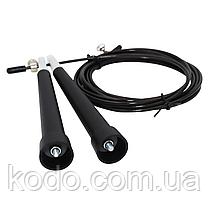 Скоростная скакалка на подшипниках (Система 2d вращения) кросфит Черный, фото 2