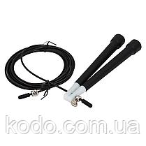 Скоростная скакалка на подшипниках (Система 2d вращения) кросфит Черный, фото 3