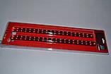 Дополнительные диодные автомобильные стоп сигналы, две полосы, 66 диодов, фото 2